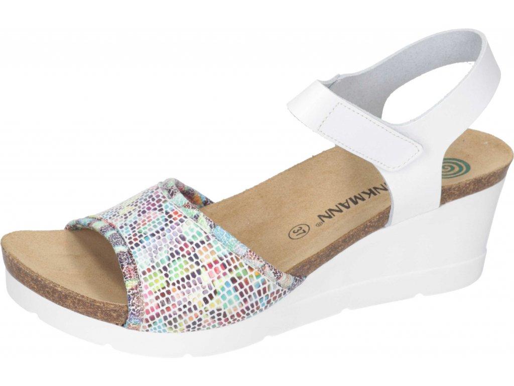 Dr. Brinkmann 711010 dámské sandály klín bílá