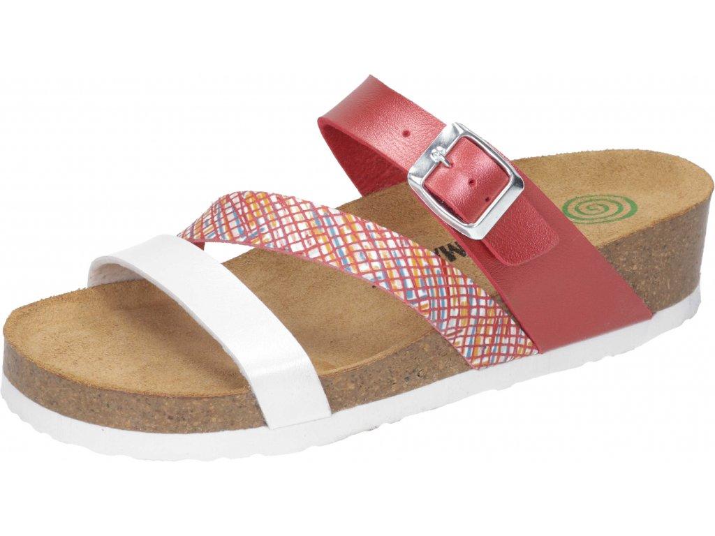 Dr. Brinkmann 700014-04 dámské pantofle klín červená