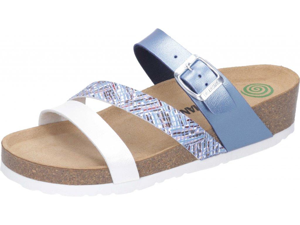 Dr. Brinkmann 700014-05 dámské pantofle klín modrá