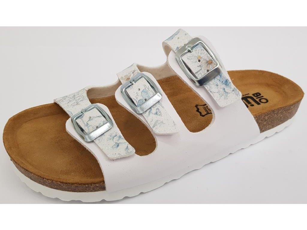 Bio Life Laura dámské zdravotní pantofle bílá potisk