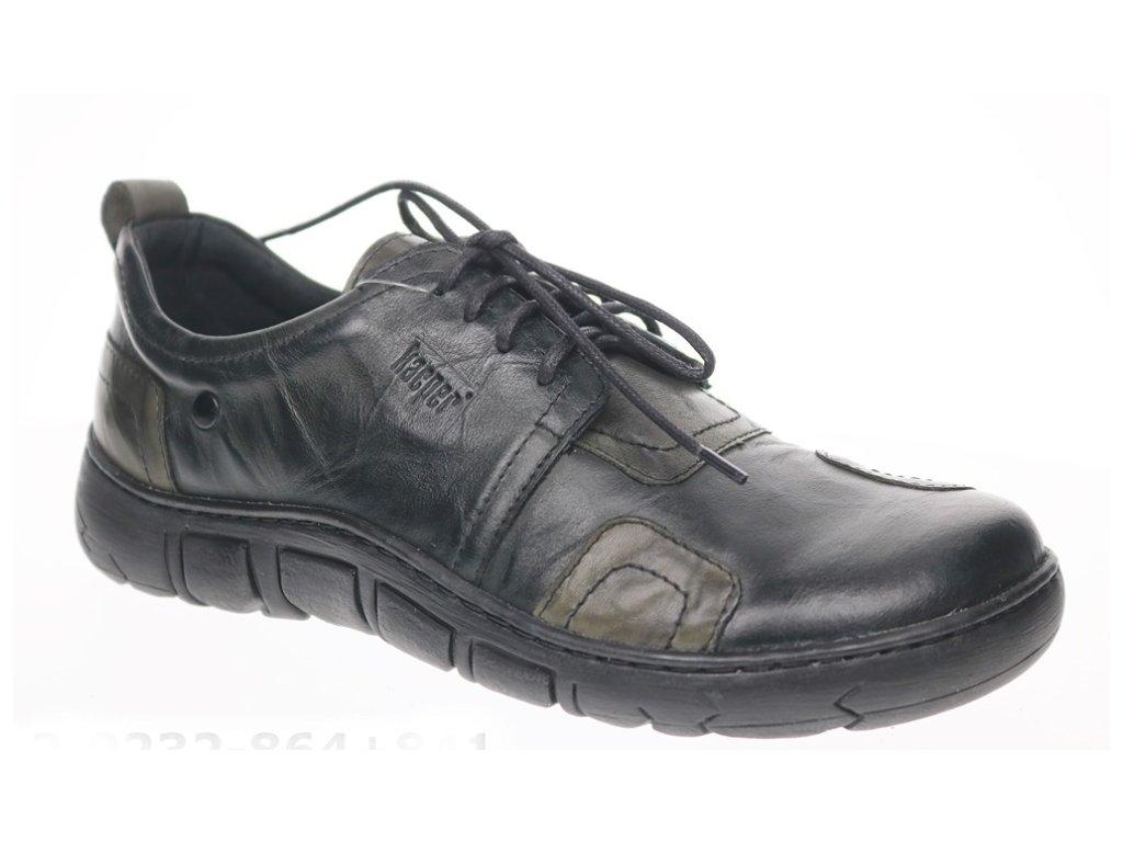 Kacper 2-232 dámská kožená obuv šíře H šedozelená
