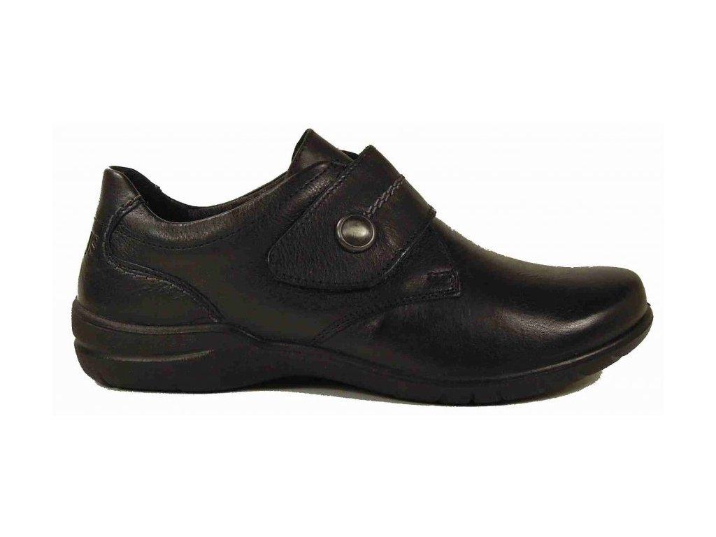 Josef Seibel Fabienne 05 černé vycházkové boty na suchý zip