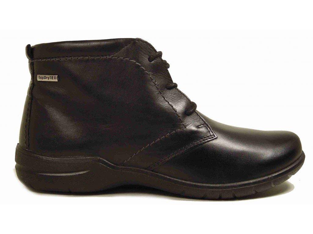 Josef Seibel Fabienne 04 black kotníkové boty