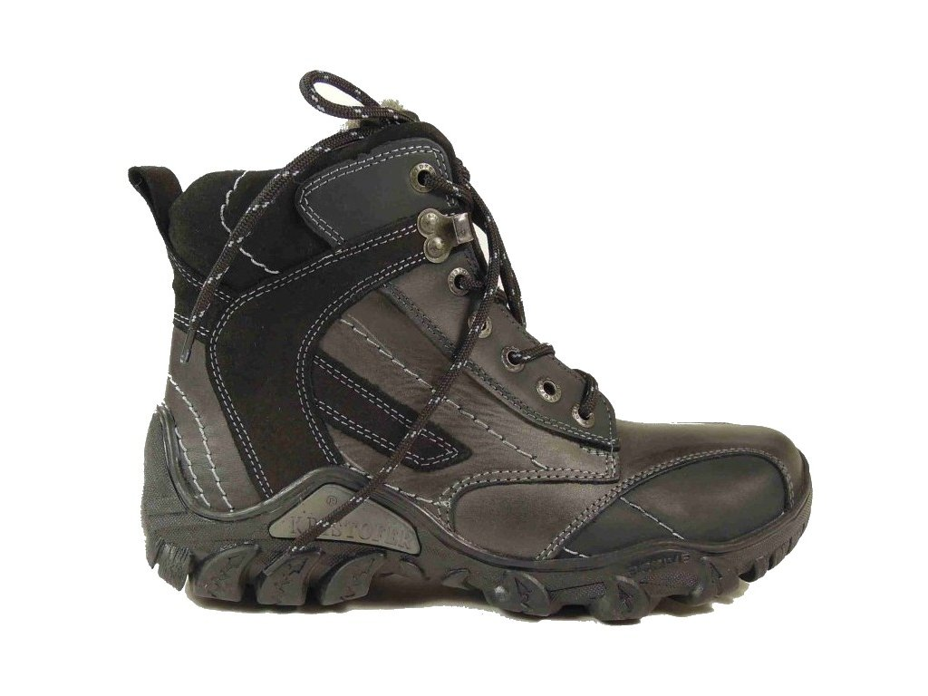 Hilby C1 černá zimní kožená obuv