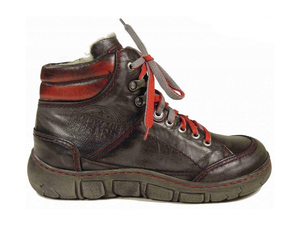 Kacper 4-0153 zimní kožená obuv grey