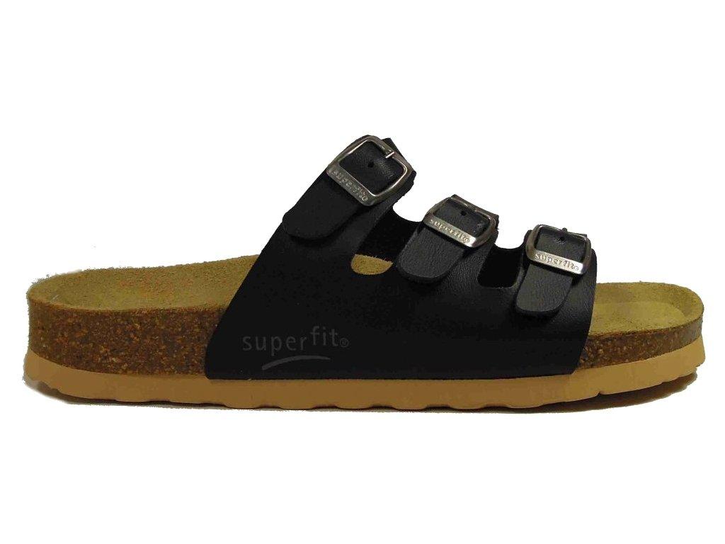 Superfit 113-80 3-pásky korkové pantofle