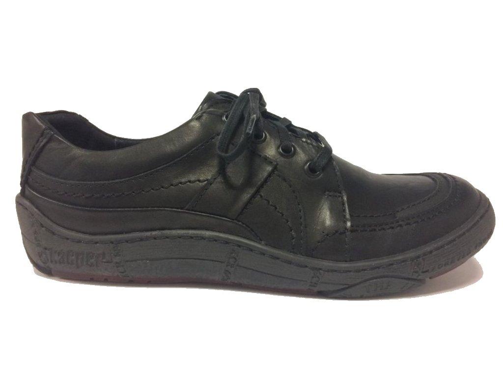 d84823346653 Kacper 2-4930 černé boty na tkaničku - Pohodlná Obuv