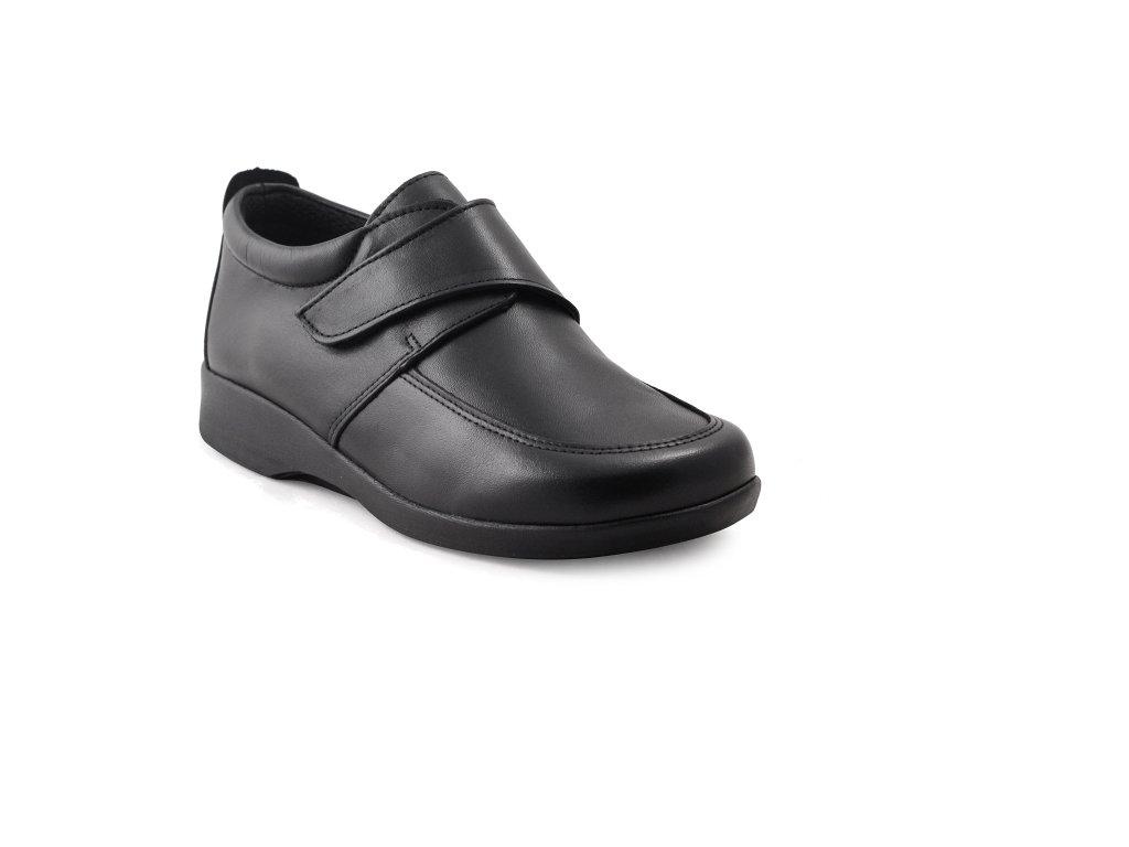 Arcopedico 7521 01 Onix - vycházkové kožené boty na suchý zip