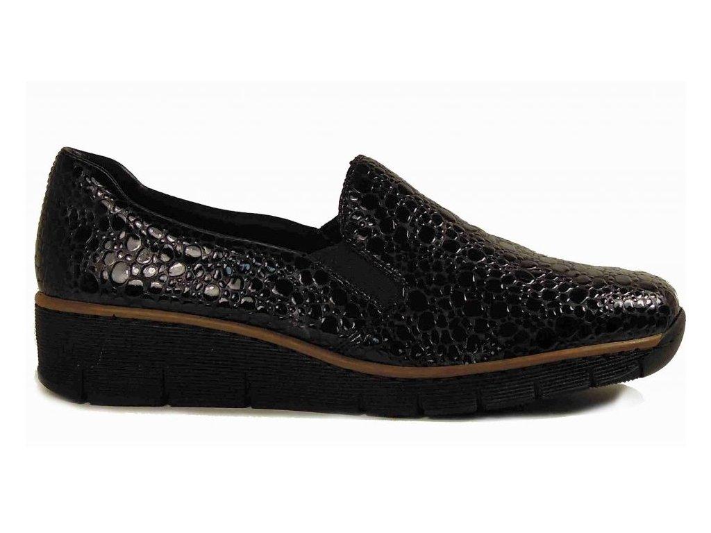 Rieker 53766-45 vycházkové boty - lakovky