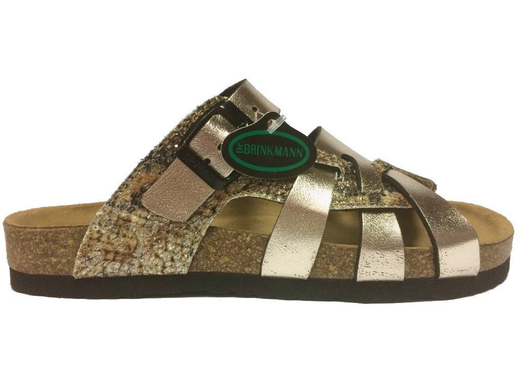 Dr. Brinkmann 700991 korkové pantofle - zlaté