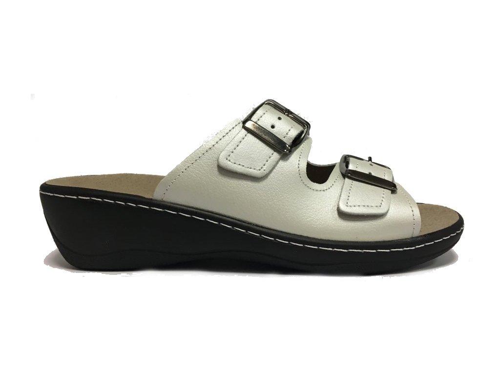 Aza Gimor 2424-17 white pantofle s vyjímatelnou stélkou