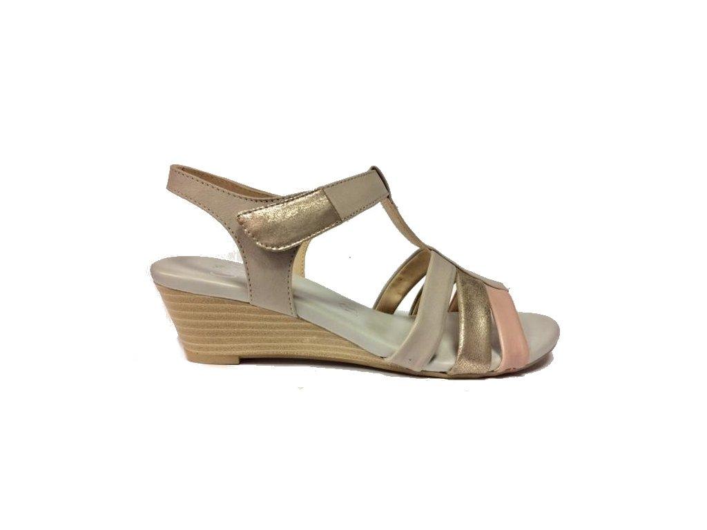 Caprice 9-9-28202-28 grey/rose dámské sandále