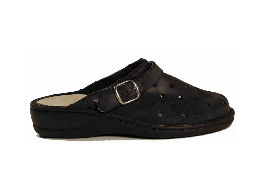 PK-Rega 038-8767C nero zdravotní pantofle s vyjímatelnou stélkou