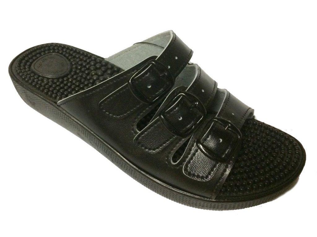 SI/03C3  masážní pantofle černé