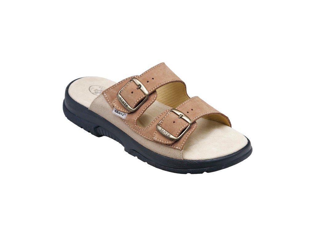 Santé 517 36 hnědé pantofle - Pohodlná Obuv 70b18f2073