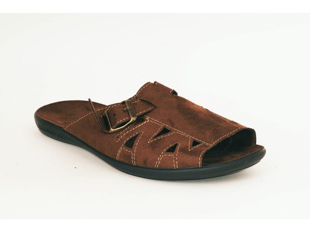 Rogallo 20313, pánský pantofel, hnědá