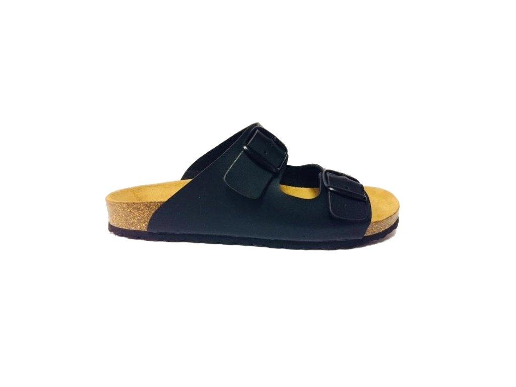 Bio Life Bilbao 14.649 černé pánské korkové zdravotní pantofle