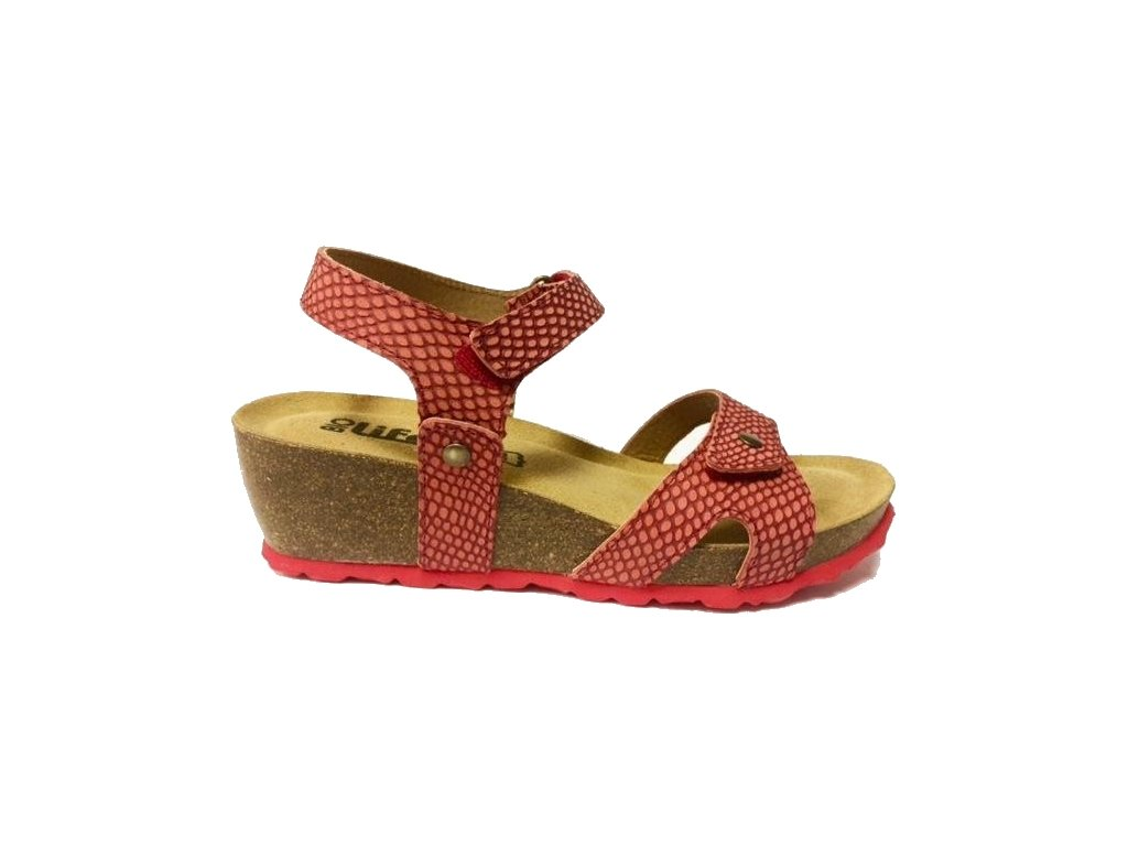 Bio Life Carmen 1625.02 červené korkové sandále