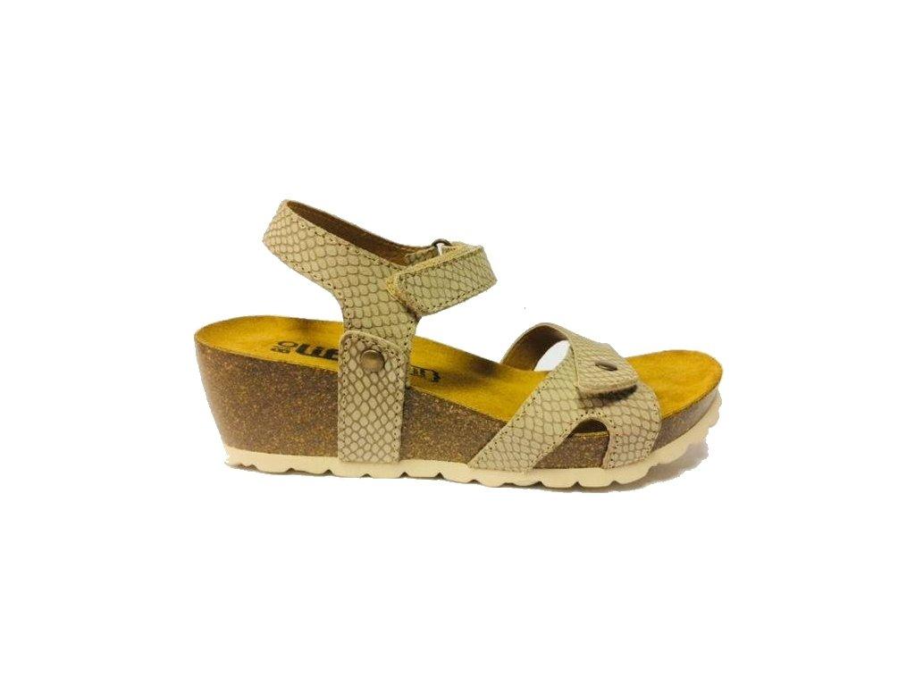 Bio Life Carmen 1625.04 béžové korkové sandále na klínu