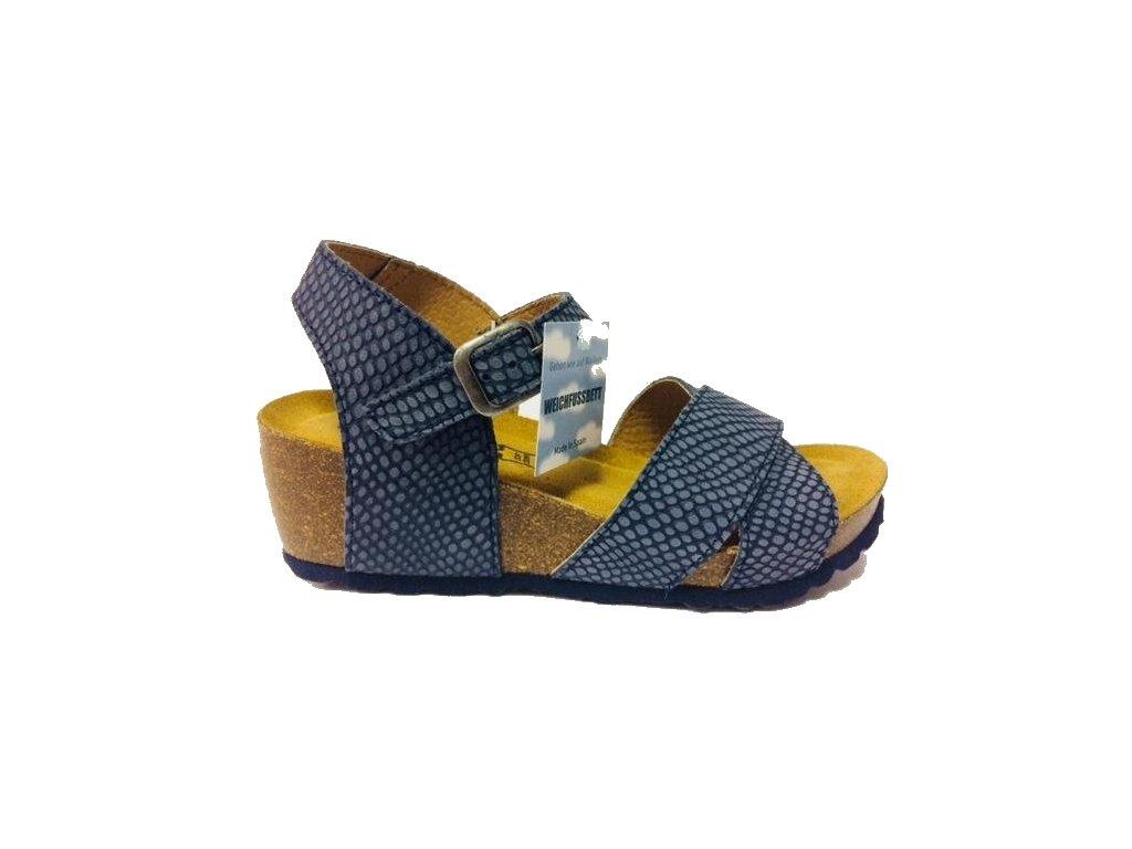 0cc3714d39b1 Bio Life Carmen 1687.03 modré korkové sandále - Pohodlná Obuv