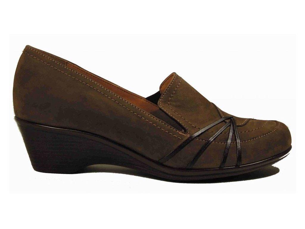 Tanex 1736/49 hnědá kožená obuv