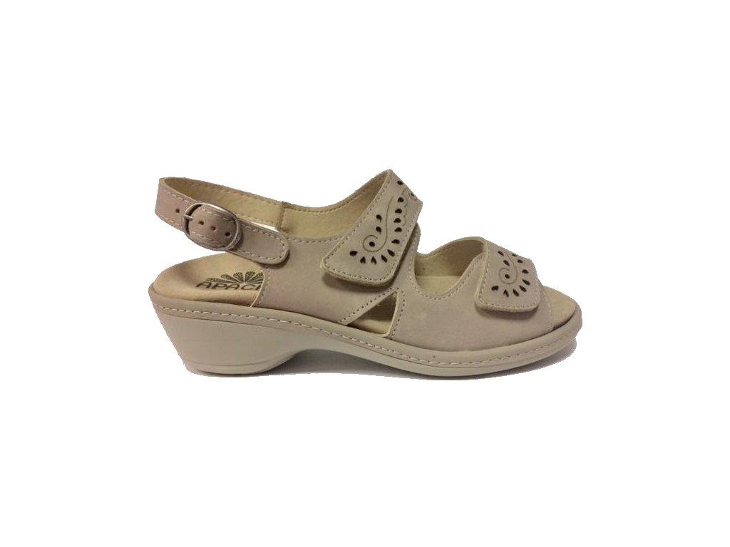 AGB MONI 135, sandál dámský, béžová, zdravotní