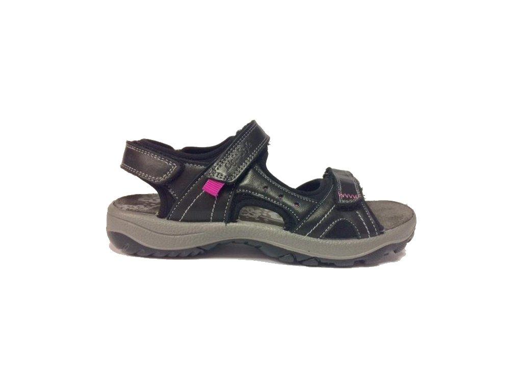 Imac 109540/006 černé sport sandále Gruna