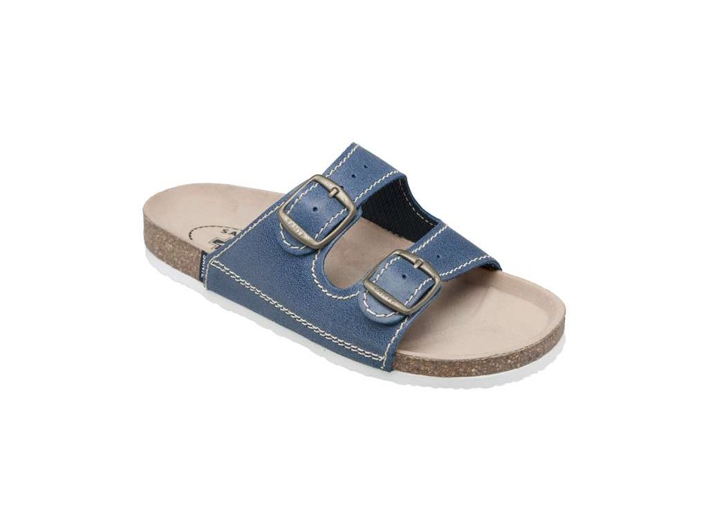 dcfa8a8b9f07 Santé D 22 86 modré pánské korkové pantofle zdravotní - Pohodlná Obuv