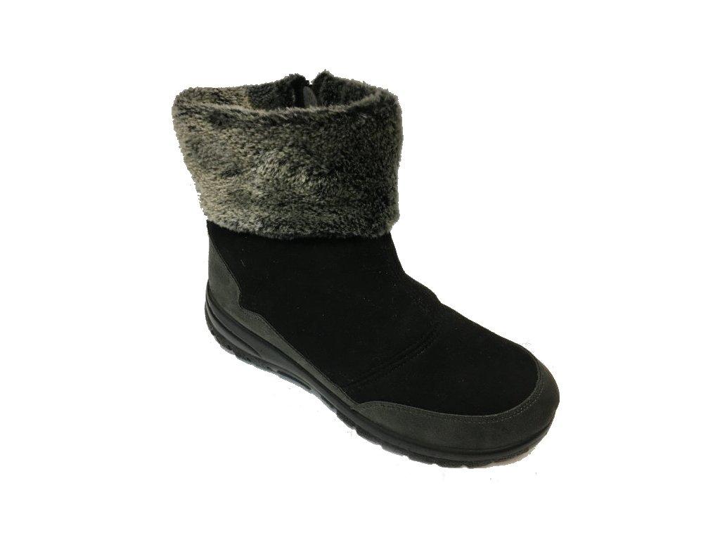 Santé MJ/4509 černé zimní boty, nízké sněhule