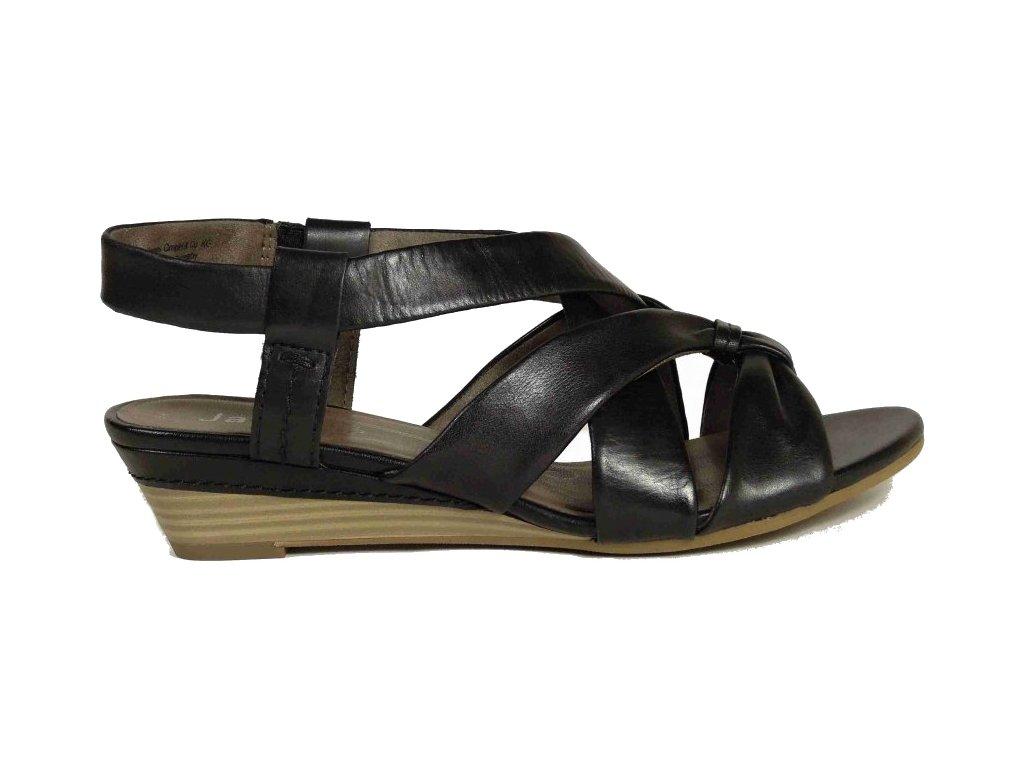 Jana shoes 8/8-28201-24 dámské černé sandály