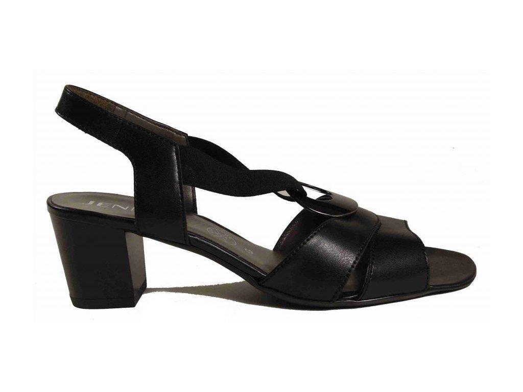 Jenny by Ara 54677 sandály černé s ozdobou, šíře G