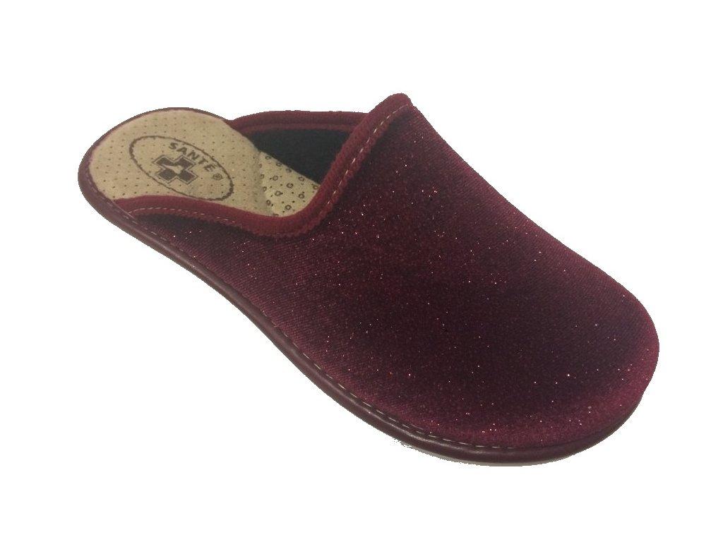 Santé LX/perla Bordo domácí pantofle