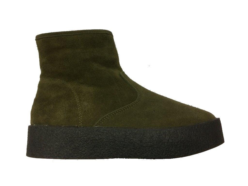 Soft Dreams 10902661429 zelené kotníkové boty Lanson