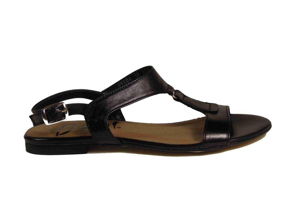 Dapi 49104 black kožené sandále