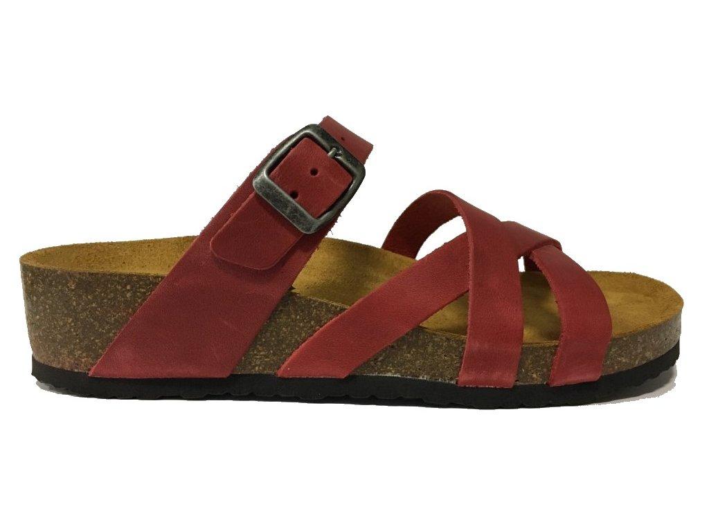 Bio Life Greta 1710.11 rot korkové pantofle