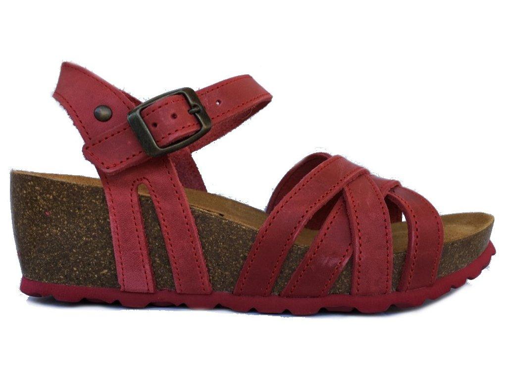 Bio Life Carmen 1715.08 červené korkové sandále