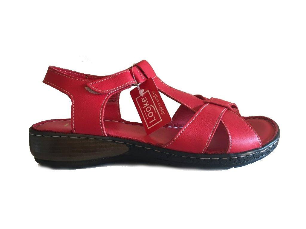Looke, Bonny, červené dámské sandály