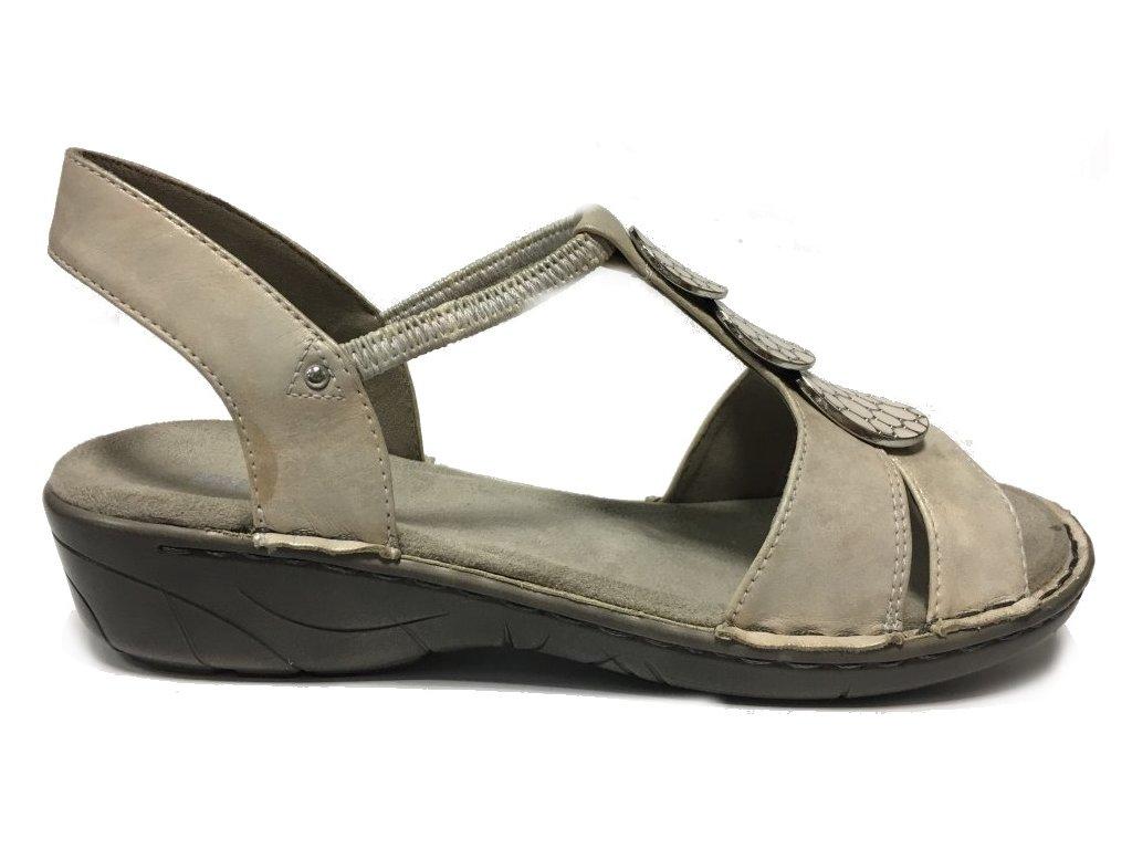 Jenny 22-57287-87 pudrová - sandále