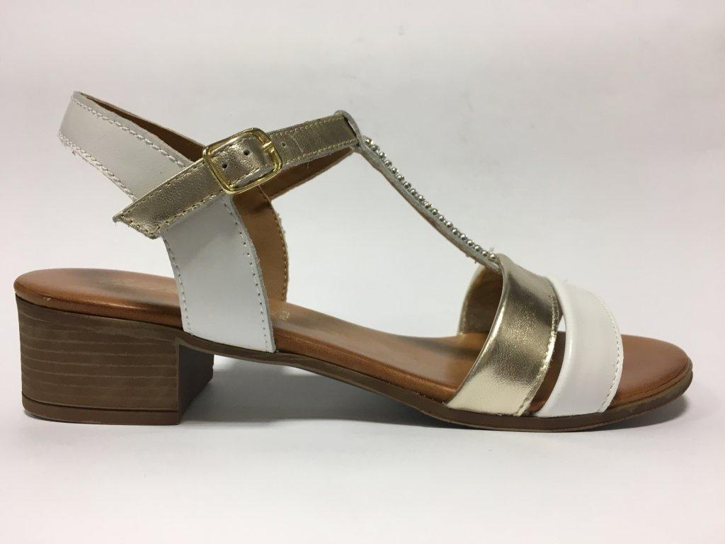 Arianna 2430020 bílo-zlaté dámské sandále