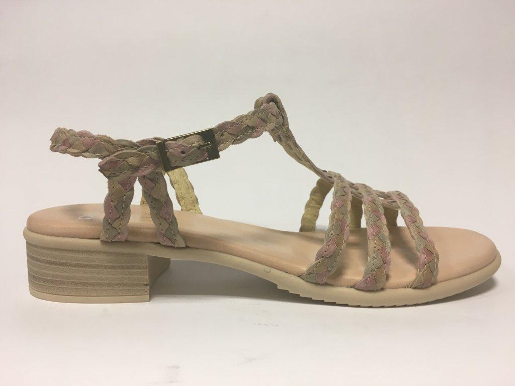 Presso 4978 rosa-mix dámské pohodlné sandály Traxin