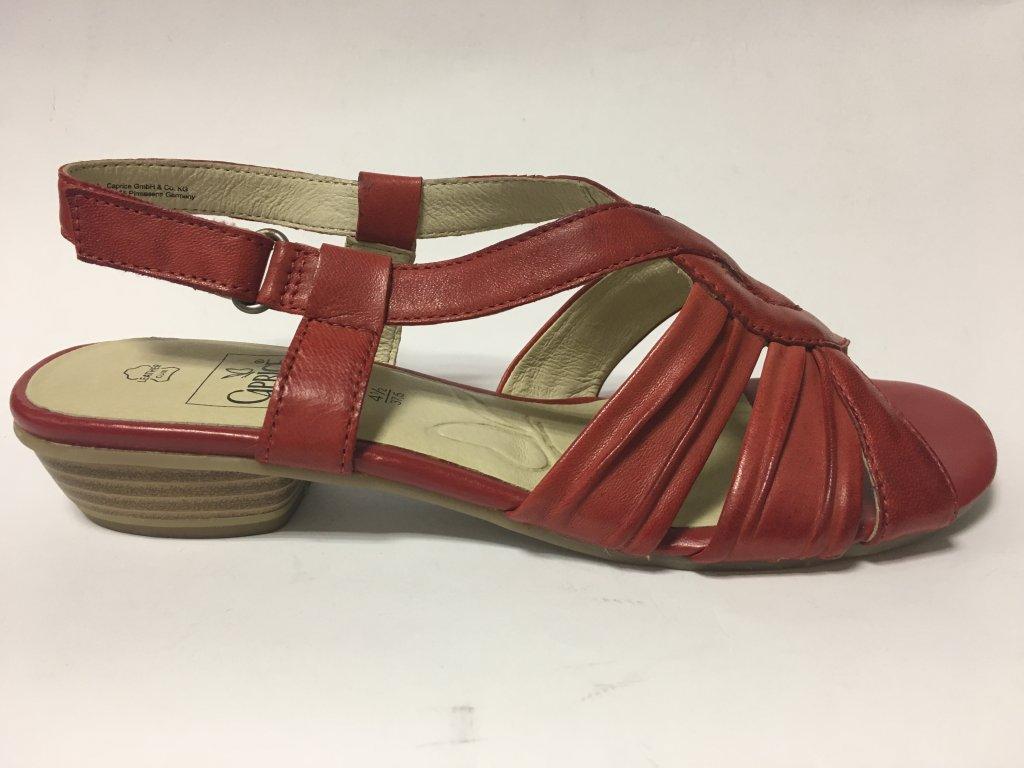 Caprice 9-28281-20 červené sandály na podpatku