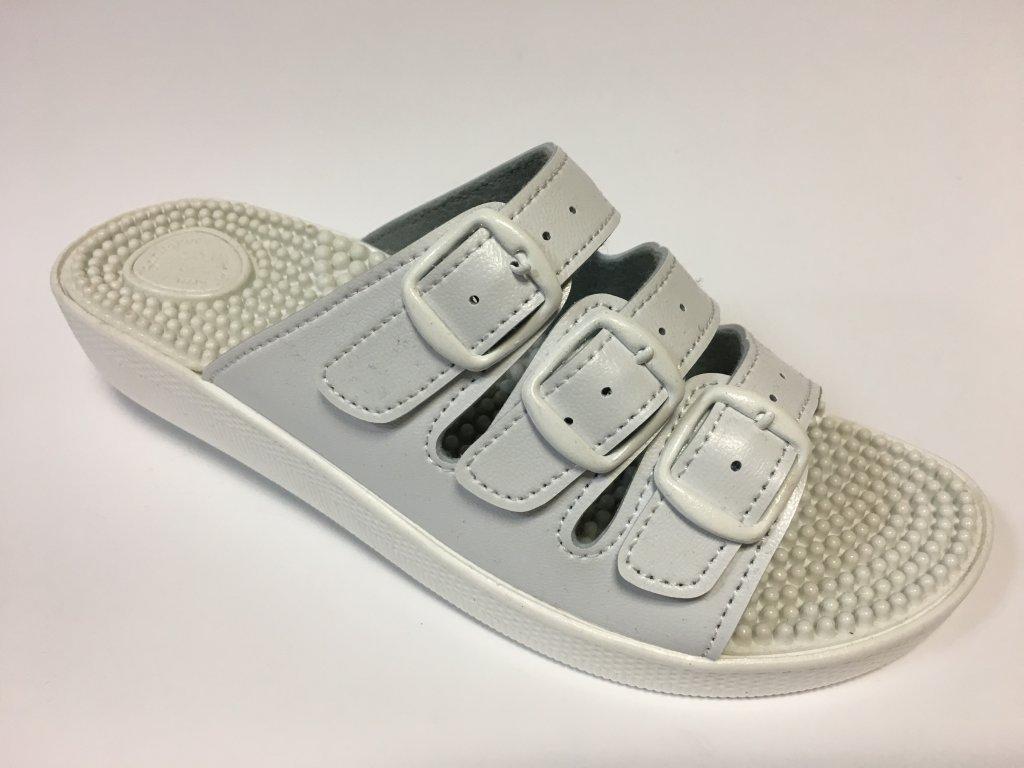 SI/03c3 bílé masážní zdravotní pantofle