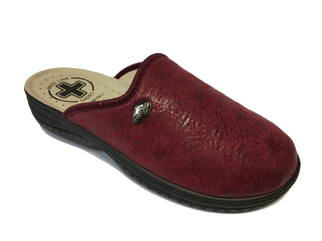 Medi Line 514 magnolia bordo dámské domácí boty - vhodné na halux