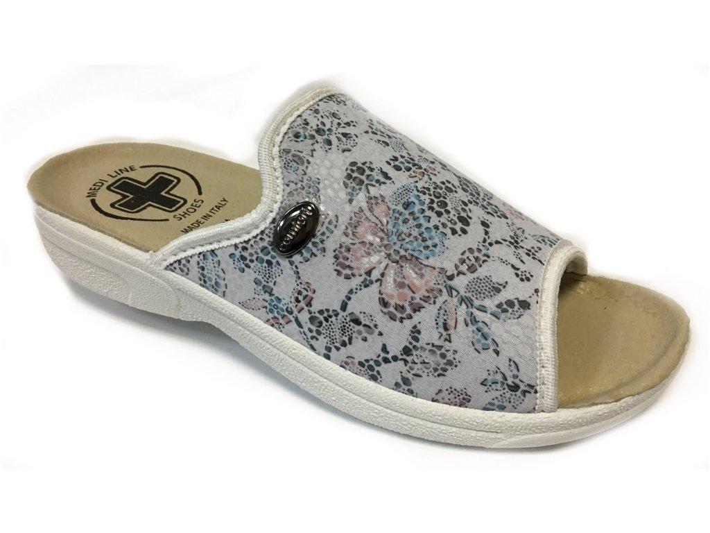 Medi Line 1425 bílé zdravotní pantofle
