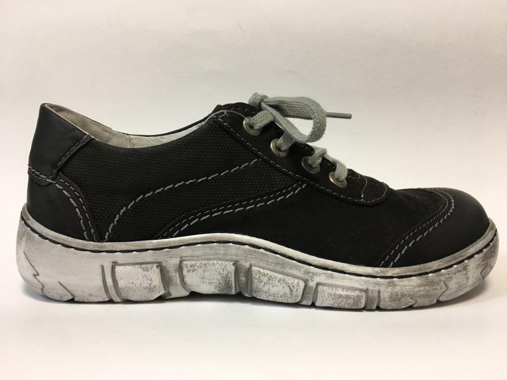 Kacper 2-0552-109 černé dámské boty s širokou špičkou