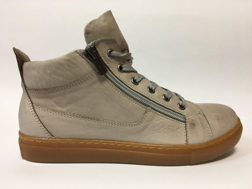Looke Jocelina šedo-béžové kotníkové boty, podzimní obuv