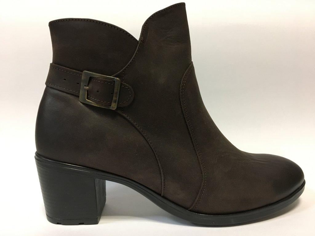 Gruna 2403 kotníkové podzimní boty na podpatku