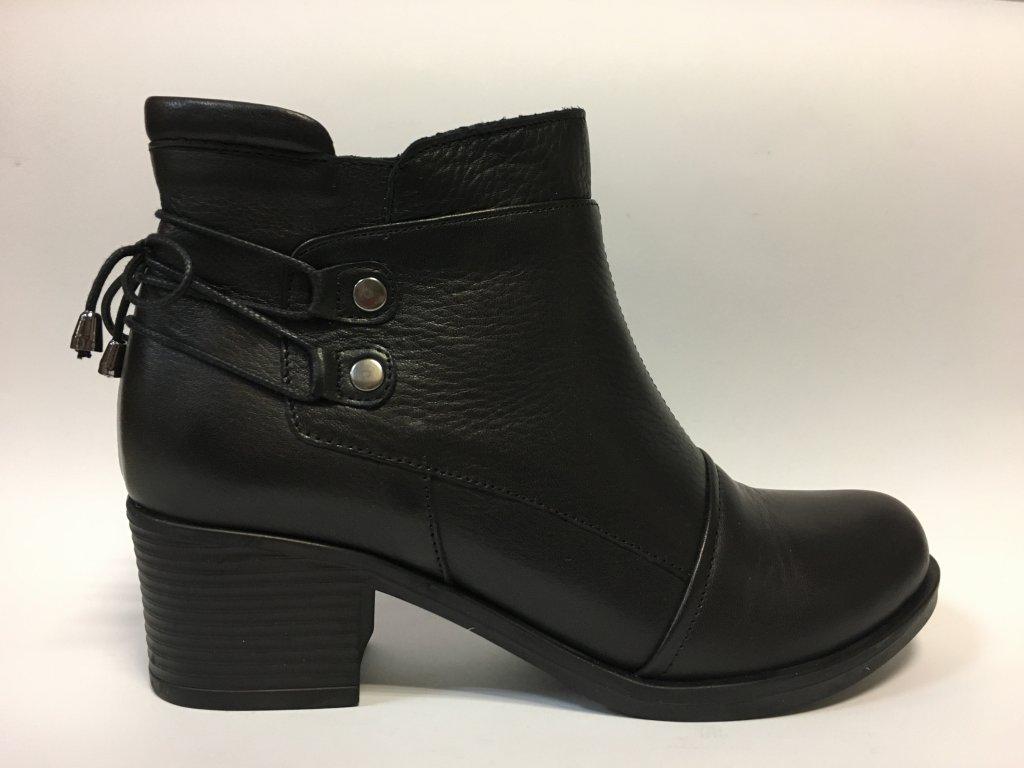 Safe Step 19201 černé podzimní kotníkové boty na podpatku