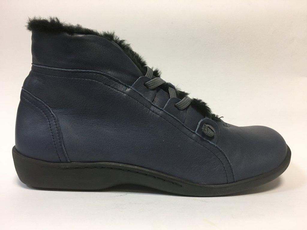 Flex and Go, BT0541 modré zimní boty kotníčkové