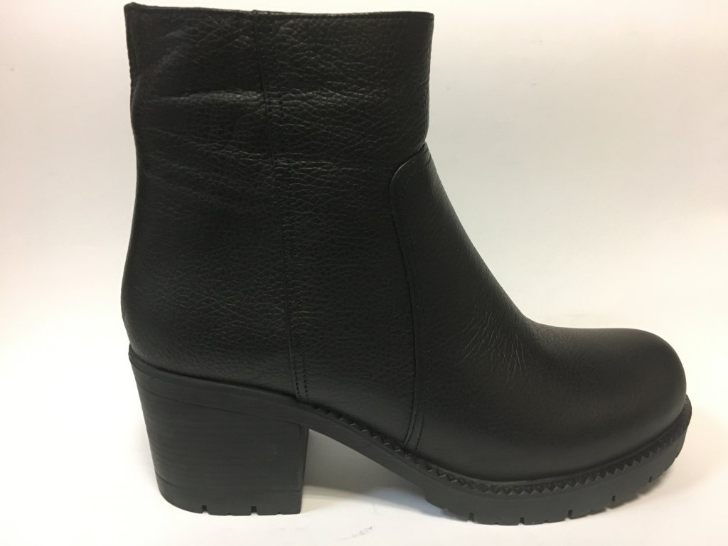 Looke Camila černé kotníkové boty na podpatku